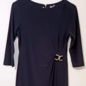NY Collection Petite Small Navy Dress T6-13